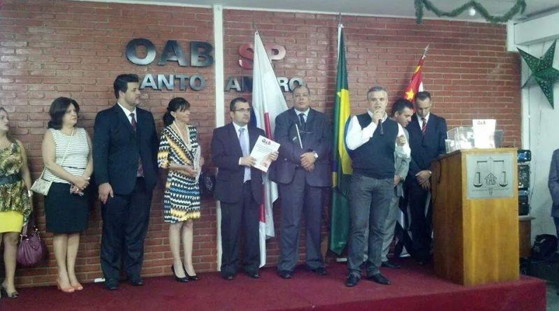 Presidente Lúcio Chama em homenagem as vítimas de trânsito na OAB de Santo Amaro