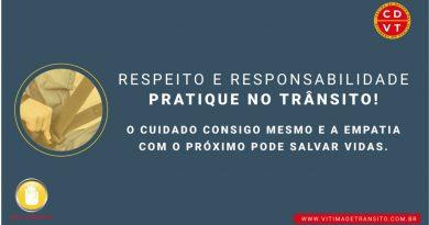 Respeito e Responsabilidade: Pratique no trânsito!